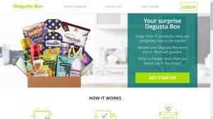 Photo of the :Degusta Box website