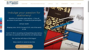 Photo of the Spotlight Stationery website
