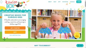 Photo of the toucanBox website